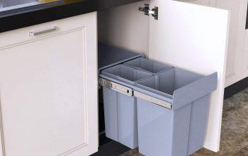 1home poubelle recyclable à compartiment 40L